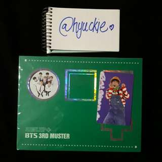 BTS 3rd Muster DVD with V/Taehyung photocard