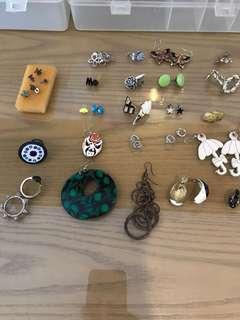 33 Earrings + 5 rings
