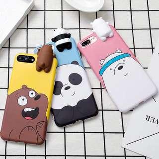 We Bare Bears 3D Phone Case