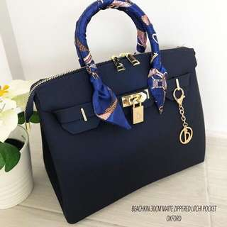Beachkin Bag Oxford or Navy Blue Litchi Matte Upgraded