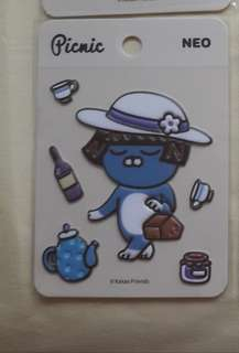 Neo Kakao friends Picnic sticker for phone, book, luggage bag etc