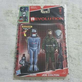 COMICS... NOT FIGURE... Legit Brand New Sealed Revolution Rom Joe Colton Toy Figure Print Cover Magazine