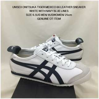 GENUINE UNISEX ONITSUKA TIGER MEXICO 66 LEATHER SHOES