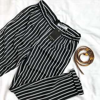 (NETT) STRIPE PANTS ZARA LOOK ALIKE FORMAL CASUAL