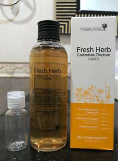 Natural pacific fresh herb calendula tincture toner share in 20ml