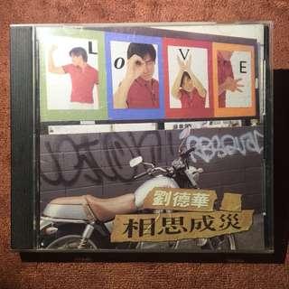 刘德华 Andy lau 相思成灾CD Album 1996 劉德華刘德华  liu de hua (1996年發行)