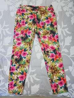 Zara tropical floral pants