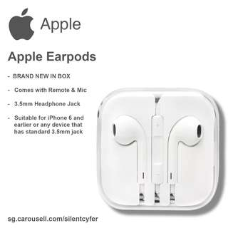 BNIB Apple Earpods White (ORIGINAL iPhone Earphones)