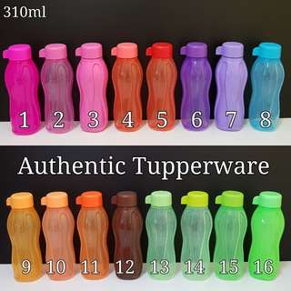 Authentic Tupperware Eco Bottle 310ml Retail Price $7.00 each