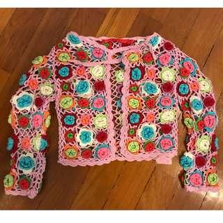Girl's Crochet Cardigan - 5-6 year old