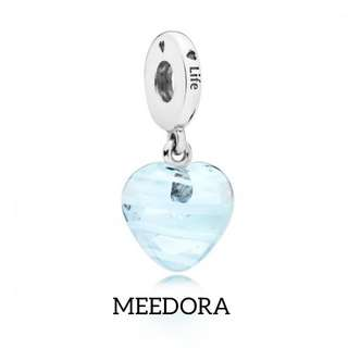 BLUE RIBBON HEART PENDANT PANDORA