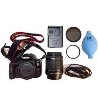 Canon EOS 100D + Kit Lens + Accessories