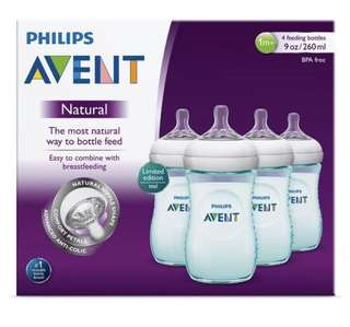 🆕Avent Natural Bottle 260ml - teal color