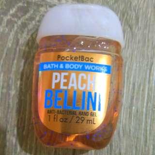 Bath and Body Works PocketBac Hand Sanitizers Peach Bellini