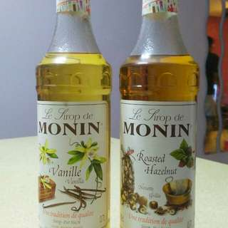 MONIN syrup Vanilla and Roasted Hazelnut