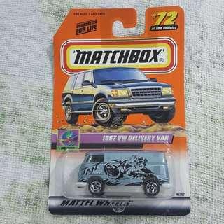 Legit Brand New Sealed Matchbox 72 1967 Volkswagen Delivery Van TNT Tour Car Toy Figure