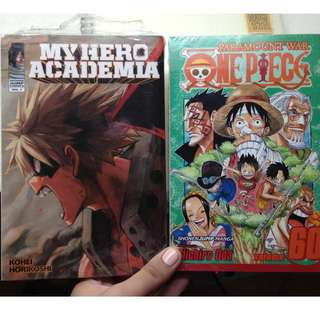 Manga - ONE PIECE, MY HERO ACADEMIA