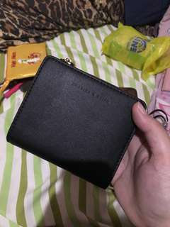Charles and Keith Black and Maroon wallet
