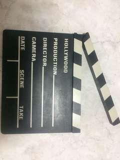 Production slate, clap board
