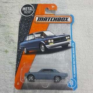 Legit Brand New Sealed Matchbox 1971 Nissan Skyline 2000 GTX Car Toy Figure