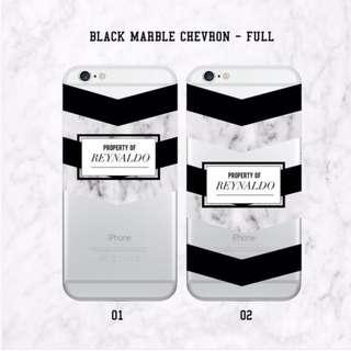 (PO) Black Marble Chervon Edition Custom Case