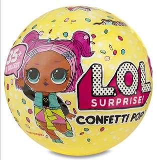 [Juniorcloset] 🆕 Authentic L.O.L Surprise dolls series 3 Confetti Pop wave 1 LOL