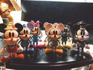 Mickey Mouse 米奇 膠公仔 鎖匙扣