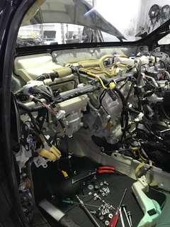Car air con Lexus RX 270 replace air con cooling coil