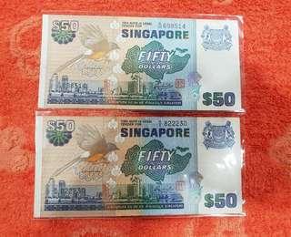 2pcs of $50 Bird notes