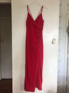 Red ball dress