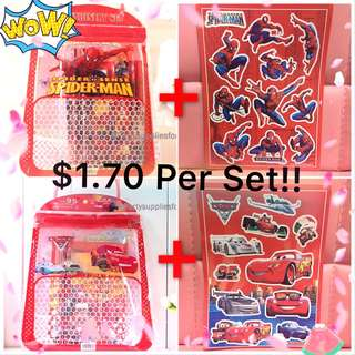Children's Birthday Party Goodies Bag with stickers set