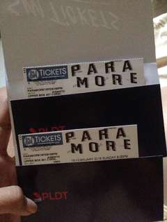 2 UPPER BOX PARAMORE TICKET