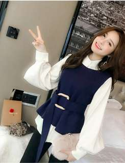 BN with tag. Korean 2 pc top