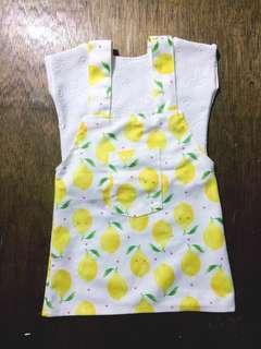 Baby lemon jumpskirt