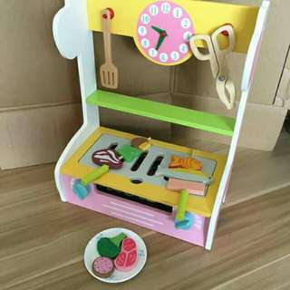 💜Wooden Barbeque Playset 😃