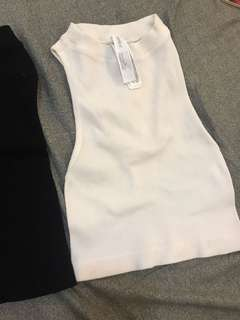 FOREVER21 High Neck Crop Top Bare Side and Back
