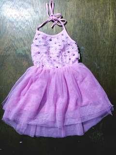 Baby long back dress