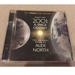 "Alex North ""2001: A SPACE ODYSSEY"" unused score Intrada 3000 Ltd CD sold out"