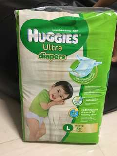 Huggies Ultra Diapers L (50 pieces)