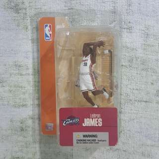 "Legit Brand New With Custom Box McFarlane NBA LeBron James Cleveland Cavaliers 3"" Toy Figure"