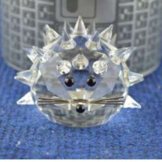 Swarovski Crystal ''Large Hedgehog'' Figurine No 7630 050 USC RD7495