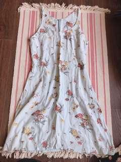 🚚 專櫃花花水藍洋裝