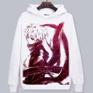 Tokyo Ghoul Kaneki Anime Hoodie Pullover Sweater Shirt