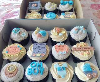 Fondant Baby Shower Cupcakes