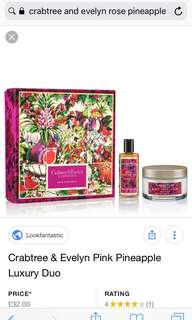 Crabtree & Evelyn Rose Pineapple Set