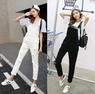 S-XL Slimmer Look Overall Jumpsuit with Pocket Design