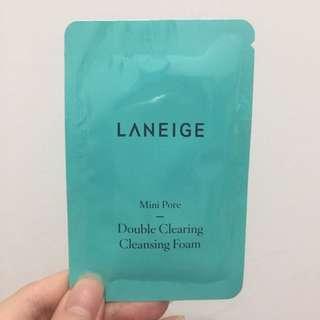 Laneige mini pore double cleansing foam