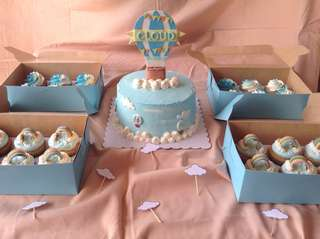 Baby Shower Cake & Cupcakes Package