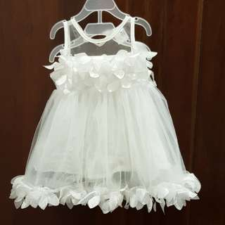 Baby Girl Dress- white only