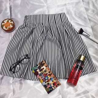 Striped Peplum Skirt